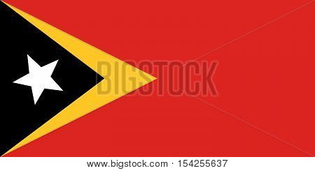 Official vector flag of East Timor . Democratic Republic of Timor-Leste .