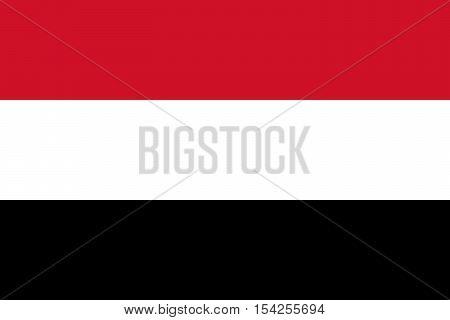 Official vector flag of Yemen . Republic of Yemen .