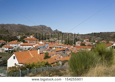 Partial view of the village of Castro Laboreiro Northern Portugal