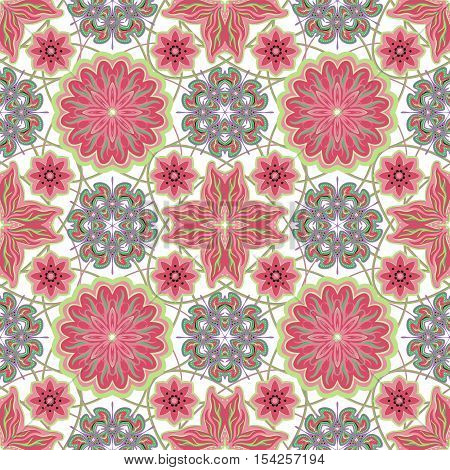 Seamless vintage background - Victorian tile in vector.