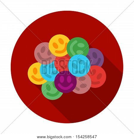 Ecstasy icon in flat style isolated on white background. Drugs symbol vector illustration.