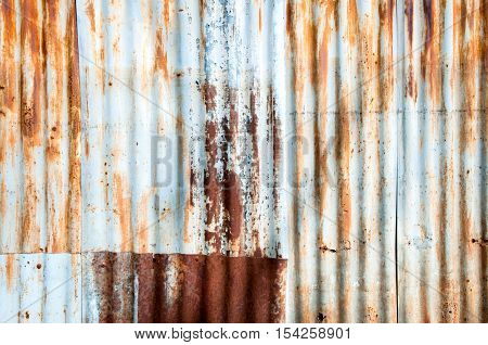 Close-up Rusted galvanized iron plate, texture background