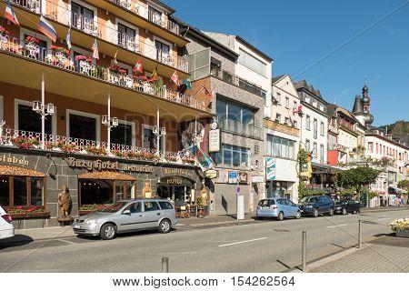GERMANY - COCHEM - AUGUST 23 2016: Street in Cochem.