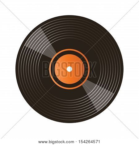 illustration of vinyl record isolated on white