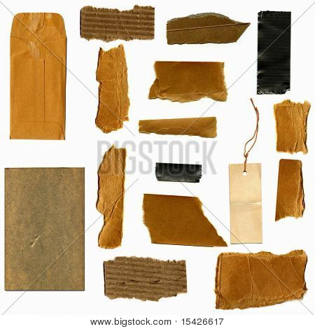 Real Cardboard And Paper Items
