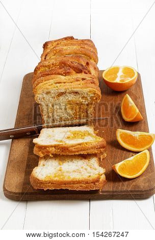 Homemade Yeast Bread With Orange Zest And Walnuts