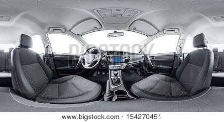 Spherical panorama 360 inside car equidistant panorama inside car. Vehicle interior panorama 360 degree of auto virtual panorama vehicle interior 360. 360 panorama of auto. Inside automobile panorama
