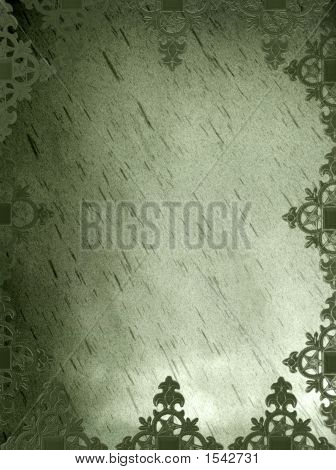 Olive Green Hued Gothic Medieval Background Grunge Page