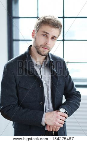 Classy. Handsome man in jacket