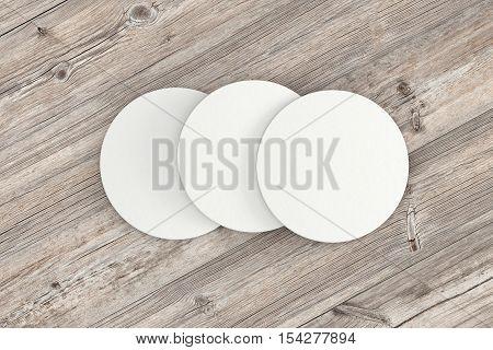White Paper Coasters.