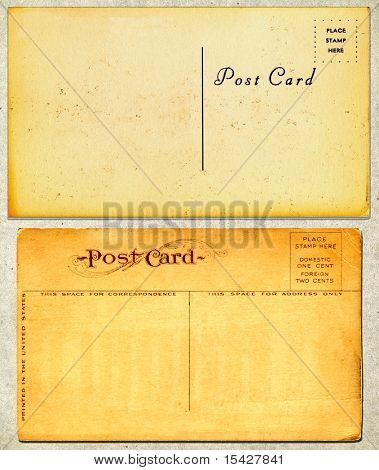 Vintage Real Postcards From Early 1900s On Cardboard
