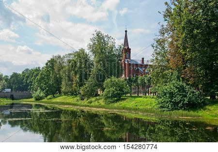 Tsarskoye Selo (Pushkin). Saint-Petersburg. Russia. Lutheran Church of Resurrection of Jesus (Evangelical Lutheran Church of Ingria).