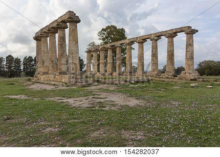 The Temple of Hera at Tavole Palatine - Metapontum