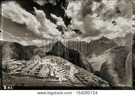 Macchu Picchu old city on a sunny day