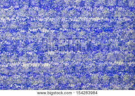 Blue knitwear fabric  texture cloth background closeup