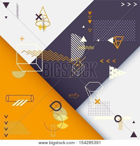 Abstract minimalistic geometric background