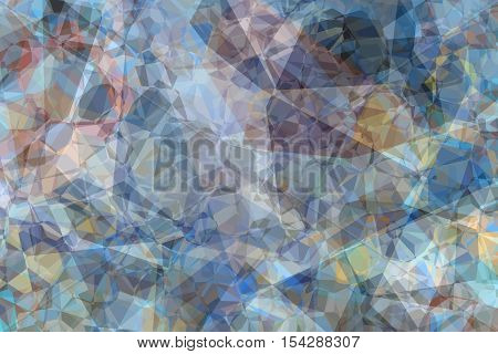 Blue kaleidoscope abstract background. Digitally generated image.