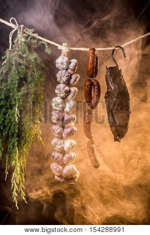 Smoked Ham In A Traditional Way In The Smokehouse