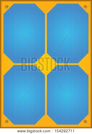 Photovoltaic or Solar panel. Abstract vector illustration.