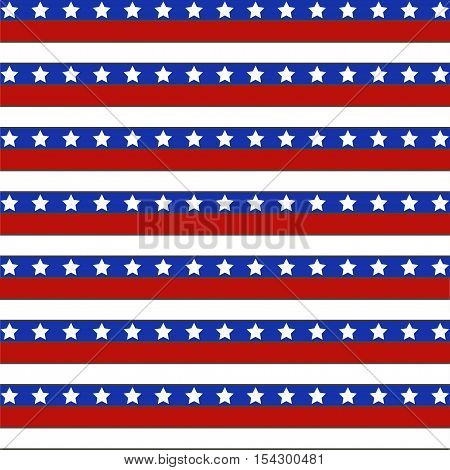 Background America. Stars and stripes background. Vector