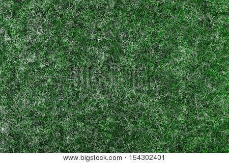 Green fiber felt texture background. Close up