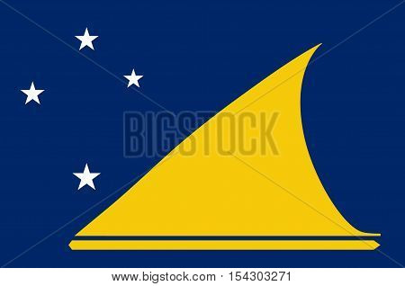 Flag of Tokelau (New Zealand) - Polynesia