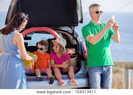 road trip, young family summer vacation or holiday