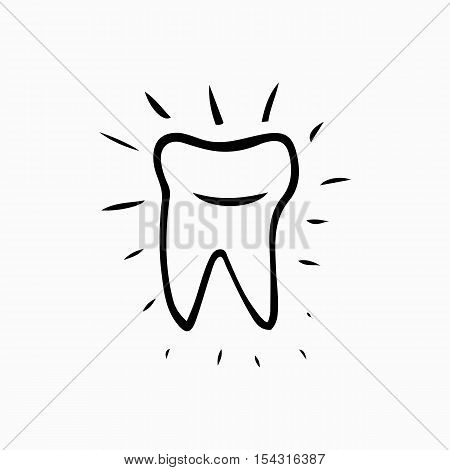 Tooth. Icon vector silhouette. Health medical or doctor and dentist office symbols. Oral care dental dentist office tooth health tooth care clinic. Tooth logo. Tooth icon tooth Icon design. poster