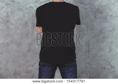 Young Man In T-shirt Back