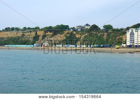 A view of the cliffs and beach at Sandown on the Isle of Wight