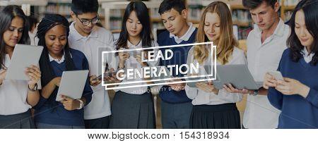 Lead Generation Marketing Consumer Interest Concept