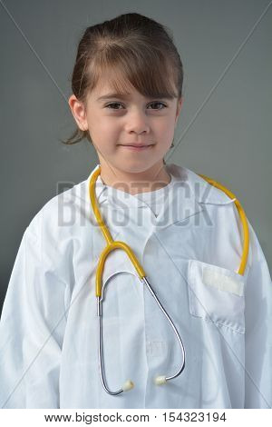 Little Child Who Wants To Be A Physician