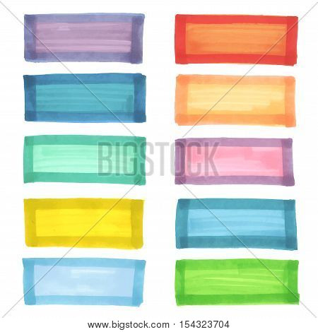 Color highlight stripes, banners drawn with japan markers. Stylish elements for design. Vector high light marker stroke, spots bright color