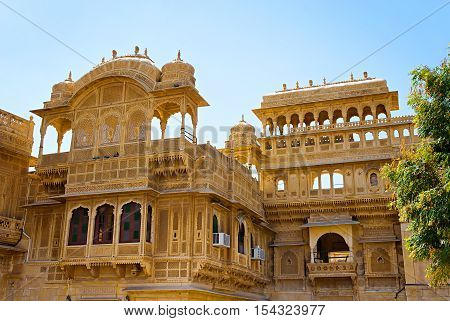 Beautiful Mandir Palace in Jaisalmer Rajasthan India