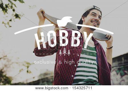 Skateboard Extreme Sports Enjoy Hobby Concept