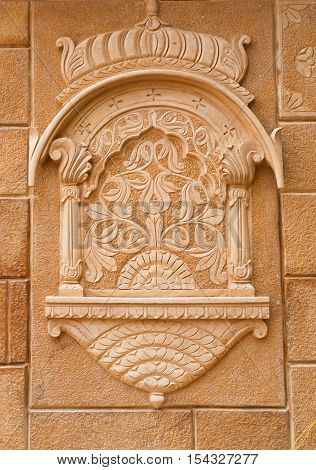 Decorative detail of Jaisalmer Fort in Jaisalmer, Rajasthan, India