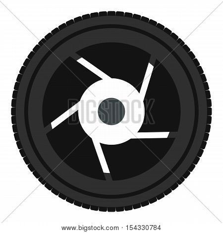Objective icon. Flat illustration of objective vector icon for web