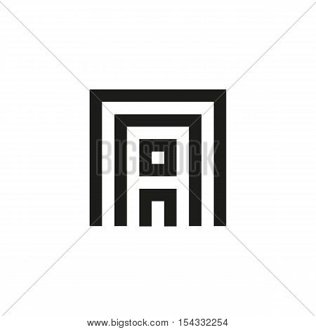 Unusual geometric letter A. Architecture vector logo. Isolated monogram