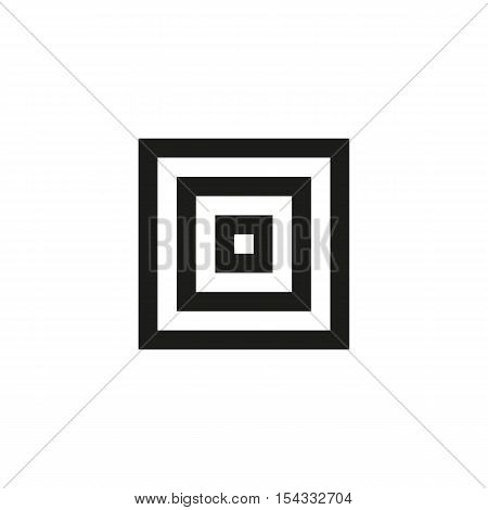 Unusual geometric letter O. Architecture vector logo. Isolated monogram