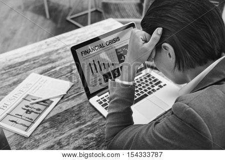 Depressed Upset Stressed Migraine Tension Concept