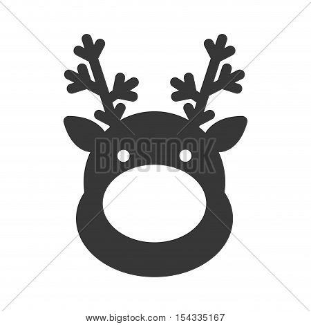 christmas reindeer character isolated icon vector illustration design