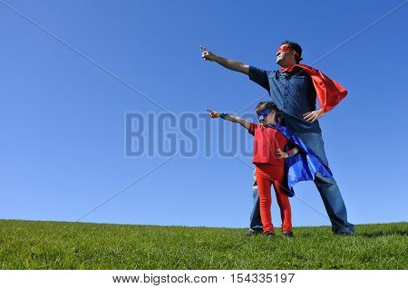 Superhero Father Shows His Daughter How To Be  A Superhero