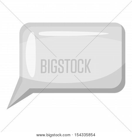 Speech bubble icon. Gray monochrome illustration of speech bubble vector icon for web