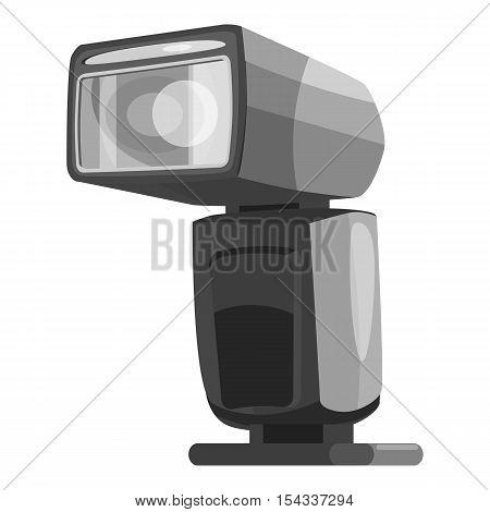 Photoflash icon. Gray monochrome illustration of photoflash vector icon for web