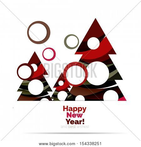 Abstract Christmas sale banner design with blank space. Vector illustration
