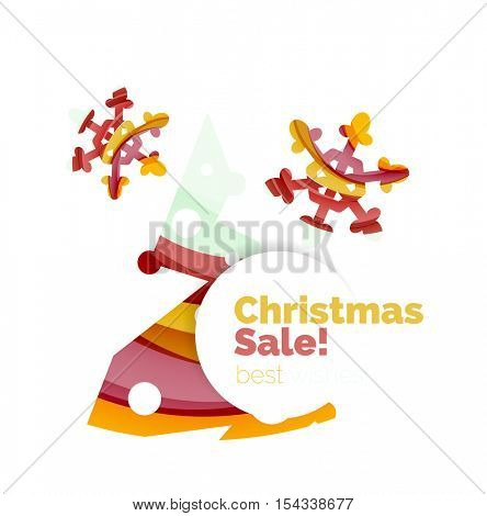 Christmas colorful geometric abstract background. Vector