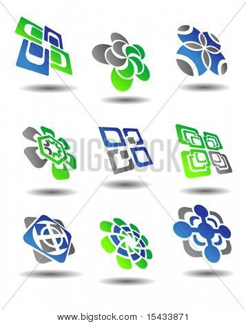 Set of color abstract symbols. Jpeg version also available in gallery