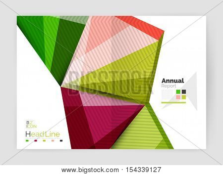 Geometric business annual report abstract backgrounds