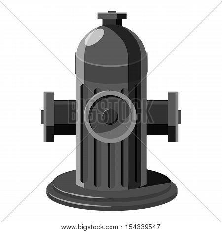 Fire hydrant icon. Gray monochrome illustration of fire hydrant vector icon for web