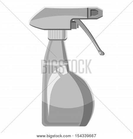Sprayer bottle icon. Gray monochrome illustration of sprayer bottle vector icon for web